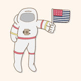 Space Astronaut theme elements vector, eps10 Stock Images