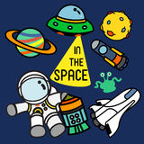 IN THE SPACE vector illustration