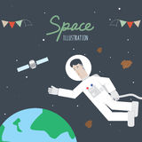 Space and Astronaut. Vector illustration of Space and Astronaut Royalty Free Stock Photography