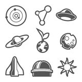 Space astronomical icons Stock Images