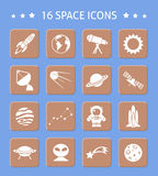 Space and astronomy buttons Royalty Free Stock Photos