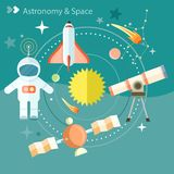 Space and astronomy Royalty Free Stock Photos