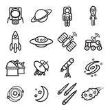 Space and astronomy icons set. Vector eps 10. Royalty Free Stock Image