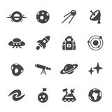 Space and Astronomy Icons Stock Photo