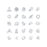Space and astronomy vector line icons Stock Images