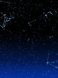 Space background. Starfield and zodiak signs background Royalty Free Stock Images