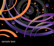 Space background. Vector drawing of an abstract background Royalty Free Stock Images