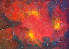 Space background colorful raster textured illustration art. Space background raster textured illustration art stock illustration