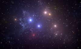 Space background with colorful stars Royalty Free Stock Photography