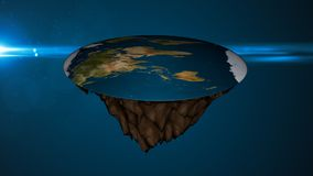 Space background with flat earth. Digital illustration Royalty Free Stock Images