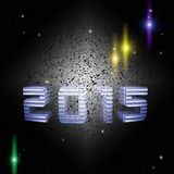 Space background forward to new 2015 Royalty Free Stock Image