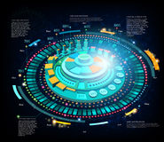 Space background or hightech futuristic interface infographic Stock Photo