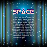 Space background with lightened corridor Stock Photography