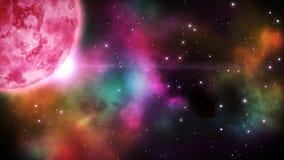 Space background. Loop.