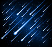 Space background meteor shower Stock Photos
