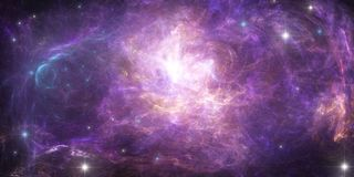 Space background, nebula. Abstract scientific background - planet in space, nebula and stars. n Stock Images