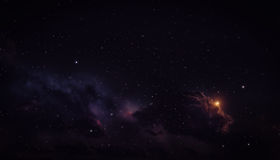 Space background with nebula. Royalty Free Stock Photography