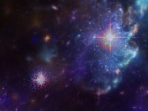 Space background with nebula and galaxies and stars Stock Photography