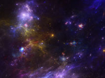 Space background with nebula and galaxies and stars. Image with nebula and galaxies and stars as background and texture for creating space scape Royalty Free Stock Photo