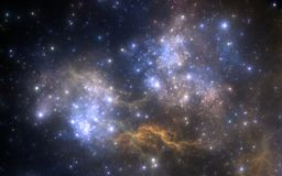 Space background with nebula and stars Royalty Free Stock Photos