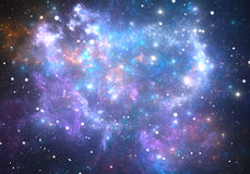 Space background with nebula and stars Stock Photos