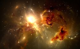 Space background with nebula and stars. Illustration Royalty Free Stock Photo