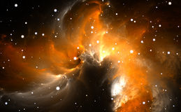 Space background with nebula and stars. Illustration Royalty Free Stock Photography