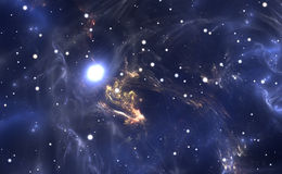 Space background with nebula and stars Royalty Free Stock Images