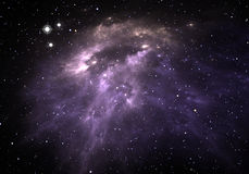 Space background with nebula and stars Stock Photo
