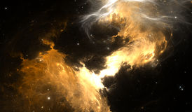 Space background with nebula and stars Royalty Free Stock Photo