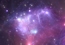 Space background with nebula and stars. Illustration Stock Photography