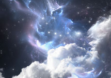 Space background with nebula and stars. Stock Photography