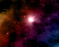 Space background with nebula. Space themed background with nebula and stars royalty free illustration