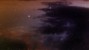 Space background. Space background with orange nebula and stars Royalty Free Stock Images