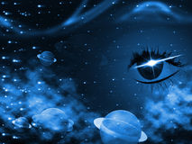 Space Background Represents Human Eye And Backdrop Royalty Free Stock Photos