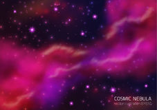Space Background With Stars And Nebula. stock illustration
