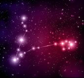 Space background with stars and Pisces constellation Stock Photo