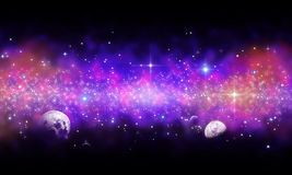 Space background. With stars and planet Royalty Free Stock Photos