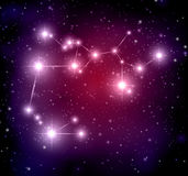Space background with stars and Sagittarius constellati Royalty Free Stock Images