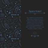 Space background for template card with place for Royalty Free Stock Photography