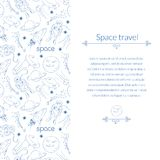 Space background for template card with place for Royalty Free Stock Photos