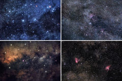 Space backgrounds set Royalty Free Stock Photos