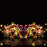 Space banner fantasy black background Royalty Free Stock Photos