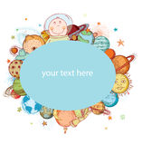 Space  Banners or Bookmarks, hand drawn vector illustration Stock Photography