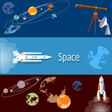 Space banners concept Stock Images