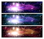 Space banners Stock Photo