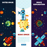 Space Banners Set Royalty Free Stock Images