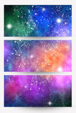 Space banners Stock Photography