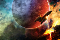 Space battle Stock Image