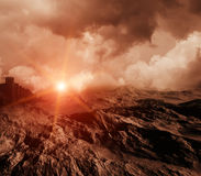 Space. Beautiful, colorful and fantastic scenery Royalty Free Stock Photography